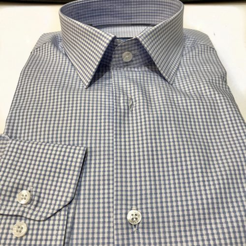 Chemise slim fit à rayures, Gianni Ferrucci - image chemise-carreau-bleu-2-500x500 on http://gianniferrucci-tlse.fr