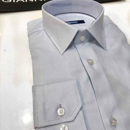 Chemise slim fit à rayures, Gianni Ferrucci - image chemise-faux-uni-500x500 on http://gianniferrucci-tlse.fr