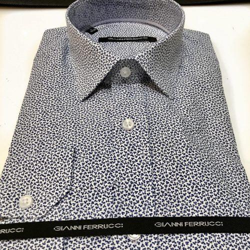 Chemise slim fit à rayures, Gianni Ferrucci - image chemise-motif-feuille-2-500x500 on http://gianniferrucci-tlse.fr