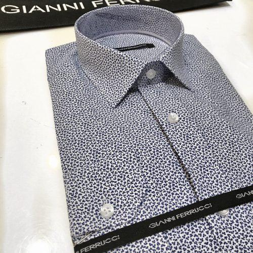 Chemise slim fit à rayures, Gianni Ferrucci - image chemise-motif-feuille-500x500 on http://gianniferrucci-tlse.fr