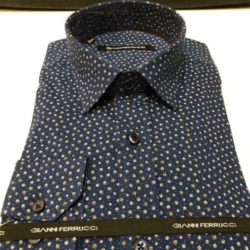 Chemise slim fit à rayures, Gianni Ferrucci - image chemise-motifs-fleurs-500x500 on http://gianniferrucci-tlse.fr