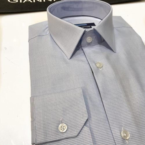 Chemise slim fit à rayures, Gianni Ferrucci - image chemise-petits-carreaux--500x500 on http://gianniferrucci-tlse.fr