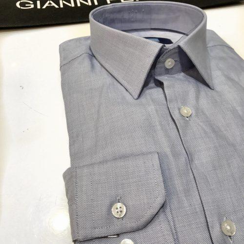 Chemise slim fit à rayures, Gianni Ferrucci - image chemise-piquée-500x500 on http://gianniferrucci-tlse.fr