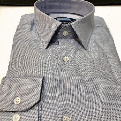 Chemise slim fit à rayures, Gianni Ferrucci - image chemise-piquée-bleue-500x500 on http://gianniferrucci-tlse.fr