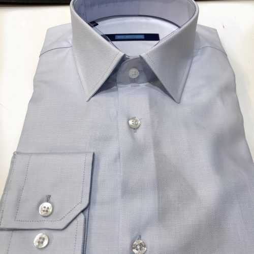 Chemise slim fit à rayures, Gianni Ferrucci - image chemise-piquée-bleue-ciel-500x500 on http://gianniferrucci-tlse.fr