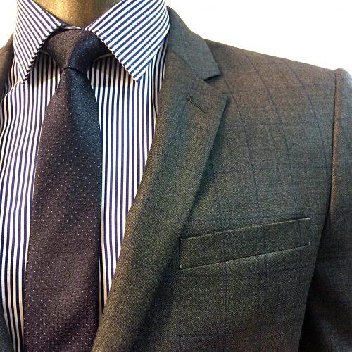 Costume 2 pièces Prince de Galles gris tissu Marzotto, Gianni Ferrucci - image costume-carreaux-fenetre-1-500x500 on https://gianniferrucci-tlse.fr