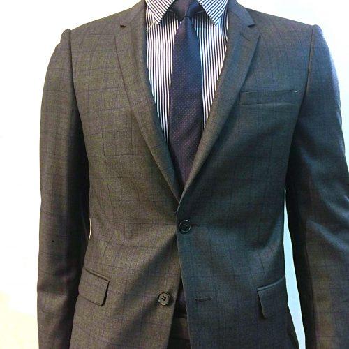 Costume 2 pièces Prince de Galles gris tissu Marzotto, Gianni Ferrucci - image costume-carreaux-fenetre3-1-500x500 on https://gianniferrucci-tlse.fr