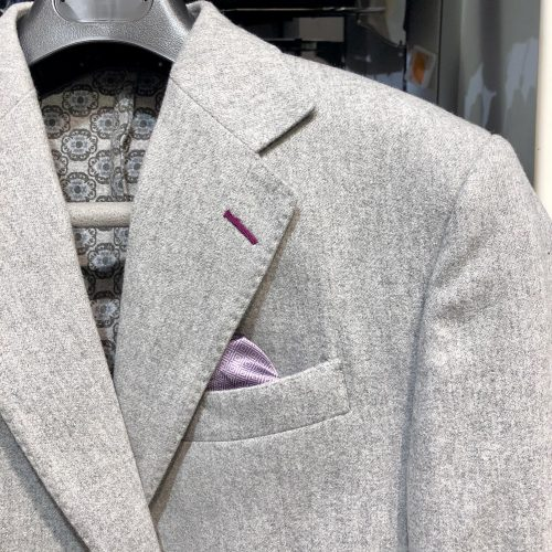 Veste marine piquée, tissus Marzotto - image veste-grise-5-500x500 on https://gianniferrucci-tlse.fr