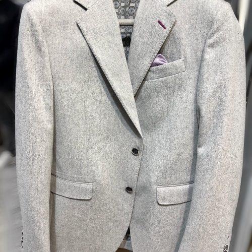 Veste marine piquée, tissus Marzotto - image veste-grise-500x500 on https://gianniferrucci-tlse.fr