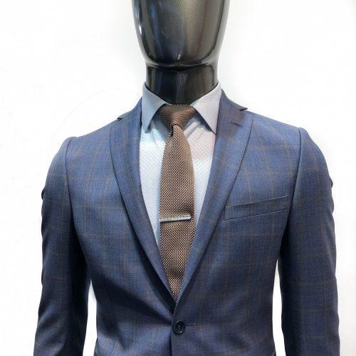 Costume 2 pièces Prince de Galles gris tissu Marzotto, Gianni Ferrucci - image redacarreau2-500x500 on https://gianniferrucci-tlse.fr