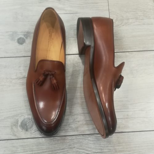 Chaussures à double boucles, cuir Camel - image IMG_20200313_135551-500x500 on https://gianniferrucci-tlse.fr