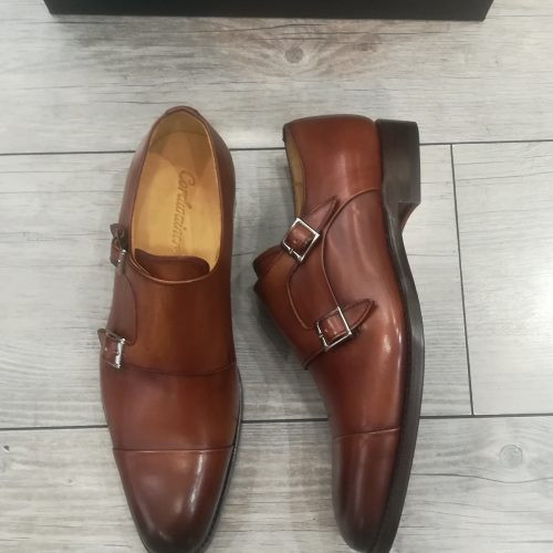 Chaussures cuir marron miel perforées - image IMG_20200313_140124-500x500 on https://gianniferrucci-tlse.fr