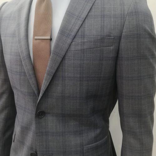 Costume 2 pièces Prince de Galles gris tissu Marzotto, Gianni Ferrucci - image IMG_20200612_140925-500x500 on https://gianniferrucci-tlse.fr