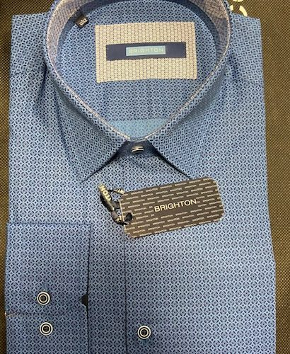 Chemise bleu à imprimée - image IMG_1195-410x500 on https://gianniferrucci-tlse.fr