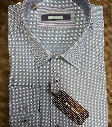 Chemise bleu à imprimée - image IMG_1201-443x500 on https://gianniferrucci-tlse.fr