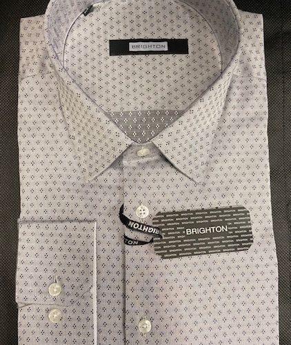 Chemise blanche à motifs marine - image IMG_1204-422x500 on https://gianniferrucci-tlse.fr