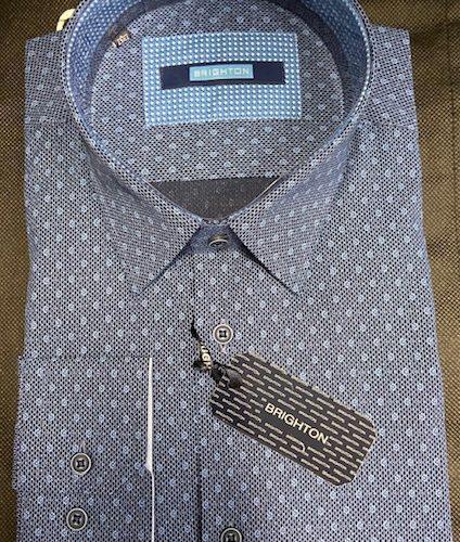 Chemise bleu à imprimée - image IMG_1208-424x500 on https://gianniferrucci-tlse.fr